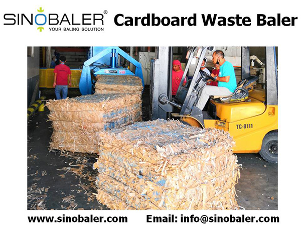 Cardboard Waste Baler Machine