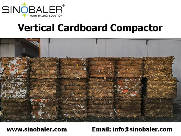 Vertical Cardboard Compactor Machine