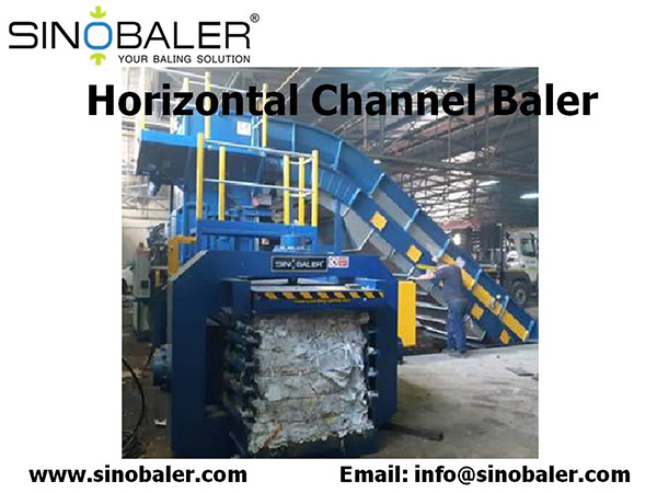 Horizontal Channel Baler Machine