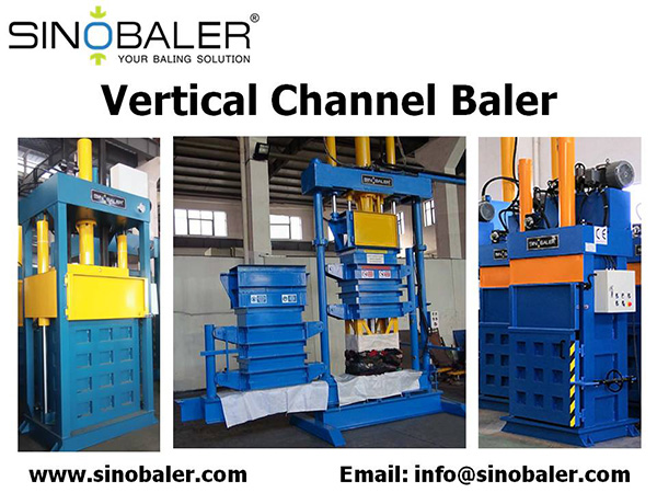 Vertical Channel Baler Machine