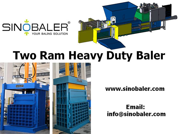 Two Ram Heavy Duty Baler Machine