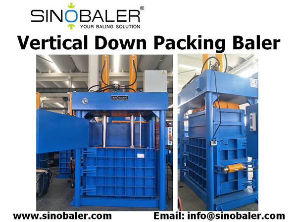 Vertical Down Packing Baler Machine