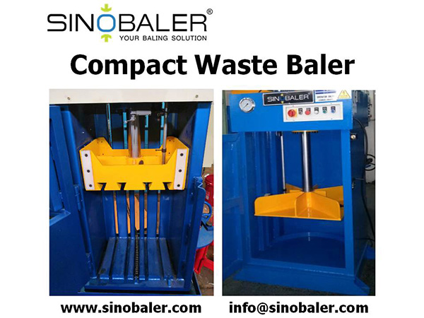 Compact Waste Baler Machine