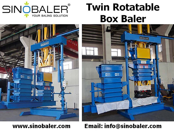 twin rotatable box baler Machine, Twin Rotatable Box Baling Press