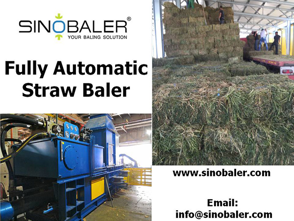 Fully Automatic Grass Baler Machine