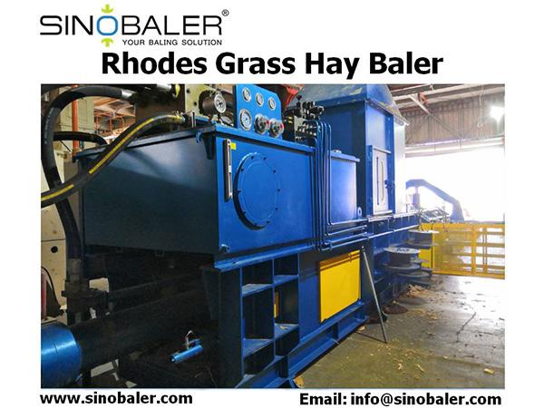 Rhodes Grass Hay Baler Machine