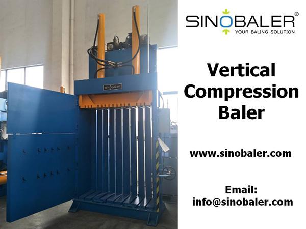 Vertical Compression Baler Machine