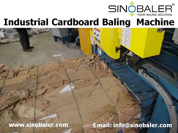Industrial Cardboard Baling Machine
