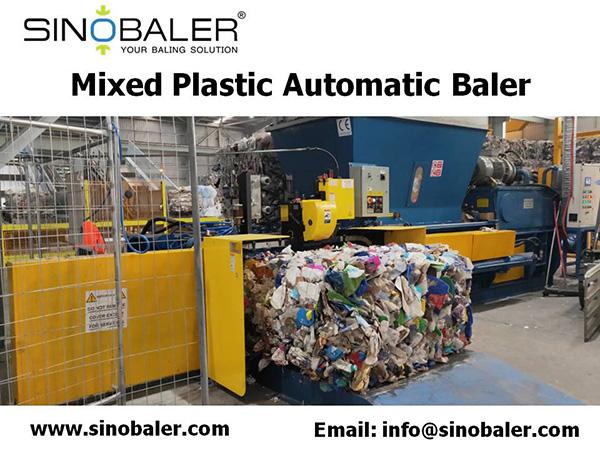 Mixed Plastic Automatic Baler Machine