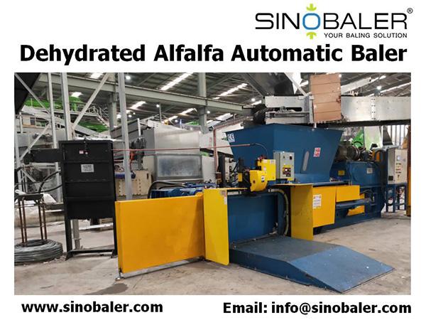 Dehydrated Alfalfa Automatic Baler Machine