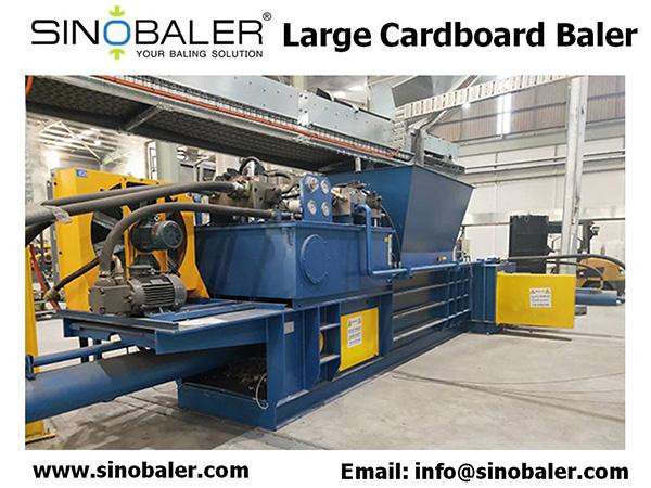 Large Cardboard Baler Machine