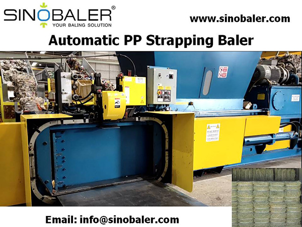 Automatic PP Strapping Baler Machine