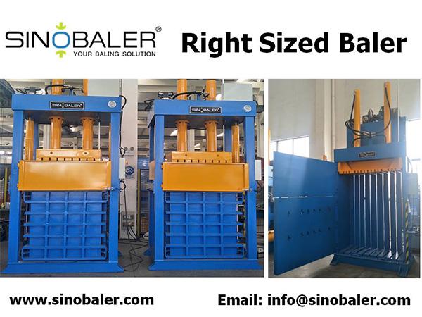 Right Sized Baler Machine