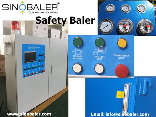Safety Baler Machine