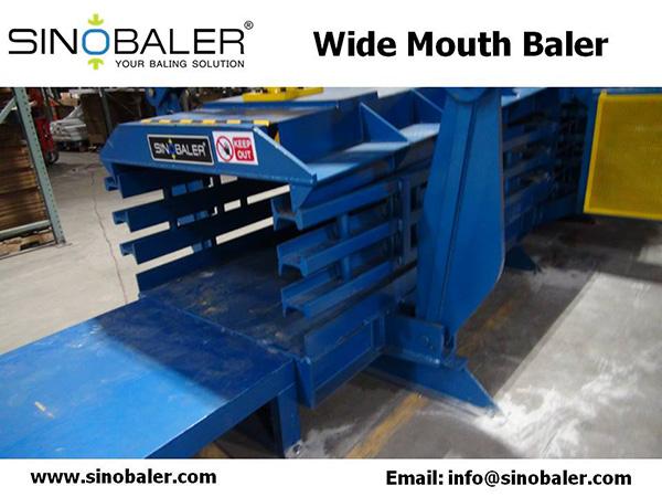 Wide Mouth Baler Machine