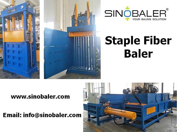 Staple Fiber Baler Machine
