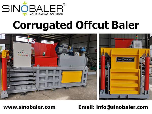 Corrugated Offcut Baler Machine