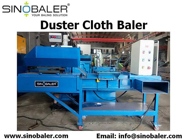 Duster Cloth Baler Machine