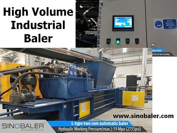 High Volume Industrial Baler Machine