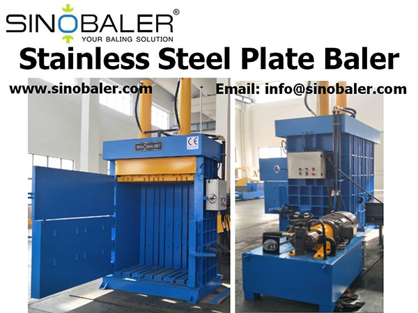 Stainless Steel Plate Baler Machine