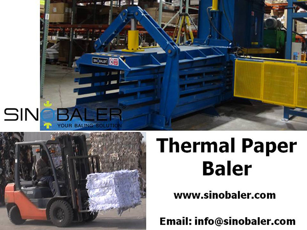 Thermal Paper Baler Machine, Thermal Paper Baling Press Machine