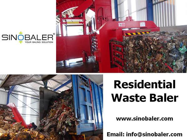 Residential Waste Baler Machine