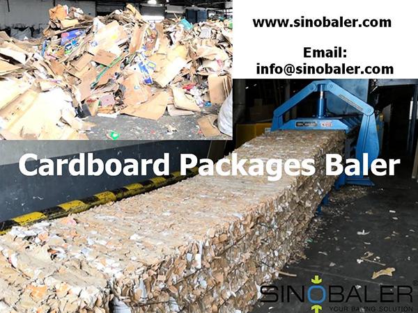 Cardboard Packages Baler Machine