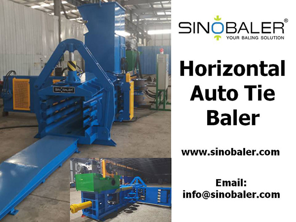Horizontal Auto Tie Baler Machine