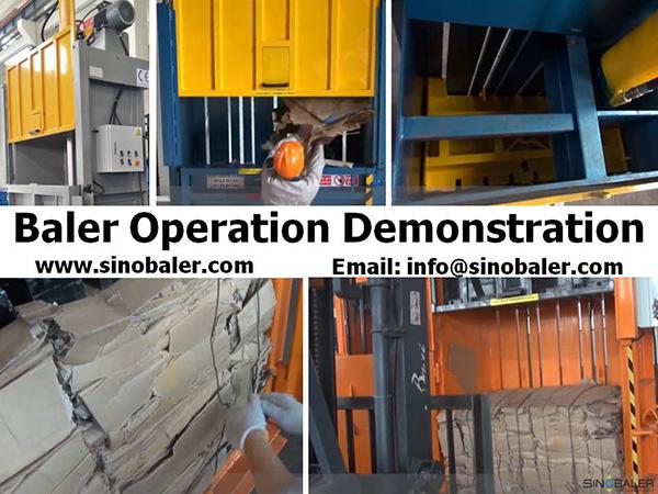 Baler Operation Demonstration