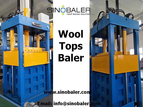 Wool Tops Baler Machine