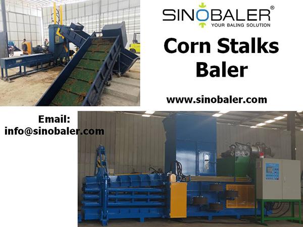 Corn Stalks Baler Machine