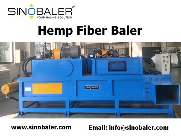 Hemp Fiber Baler Machine