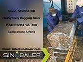 Alfalfa heavy duty baling and bagging baler_Sinobaler