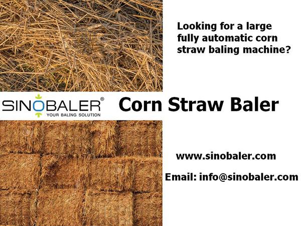 Corn Straw Baler Machine