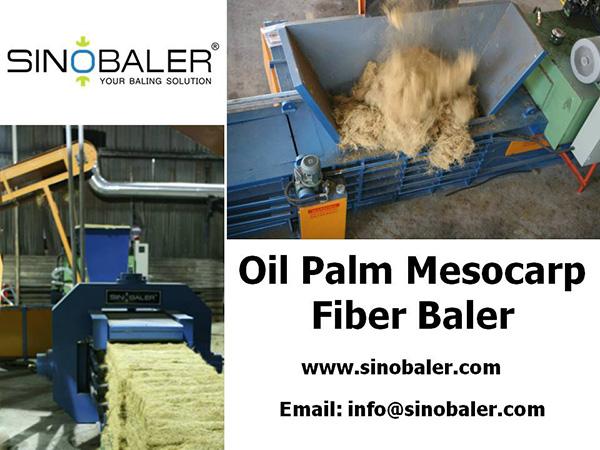 Oil Palm Mesocarp Fiber Baler Machine