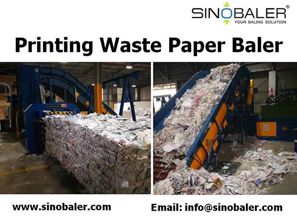 Printing Waste Paper Baler Machine