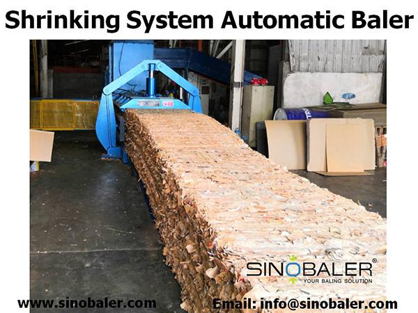 Shrinking System Automatic Baler Machine