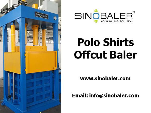 Polo Shirts Offcut Baler Machine