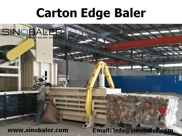 Carton Edge Baler Machine