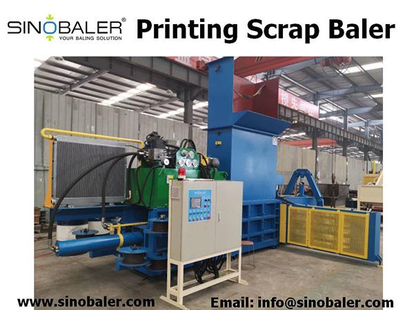 Printing Scrap Baler Machine