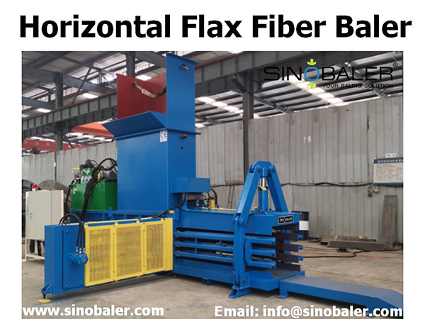 Horizontal Flax Fiber Baler Machine