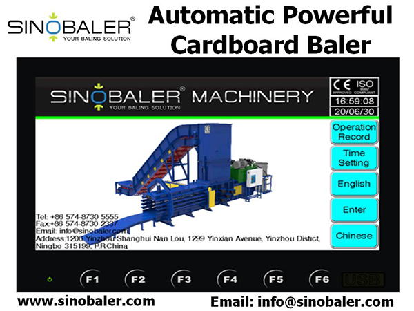 Automatic Powerful Cardboard Baler Machine