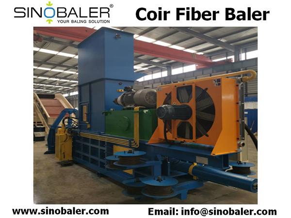 Coir Fiber Baler Machine
