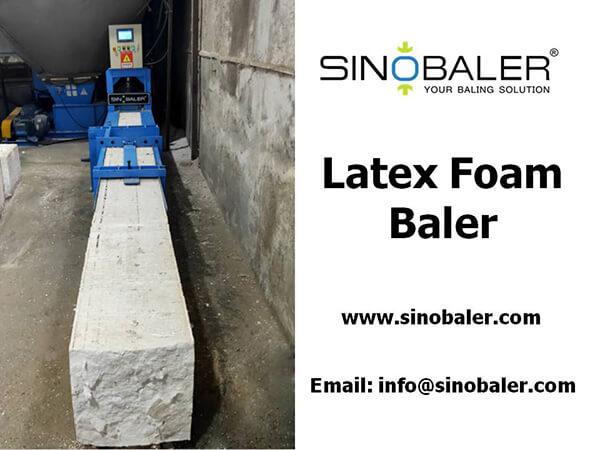 Latex Foam Baler Machine