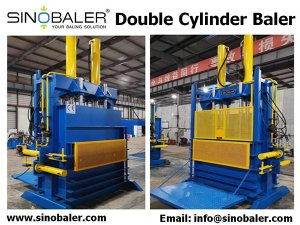Double Cylinder Baler Machine, Double Ram Baler, Two Cylinder Baler