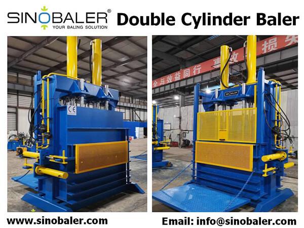 Double Cylinder Baler Machine