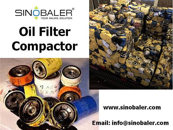 Oil Filter Compactor Machine