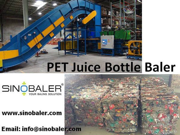 PET Juice Bottle Baler Machine