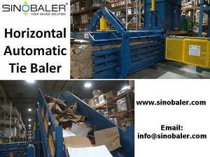 Horizontal Automatic Tie Baler Machine, Automatic Tie Baling Machine