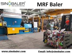 MRF Baler, MRF Plant Baler, MRF Plant Horizontal Automatic Baler